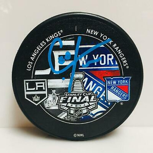 Chris Kreider New York Rangers Signed Autographe?d 2014 Stanley Cup Duel Puck B