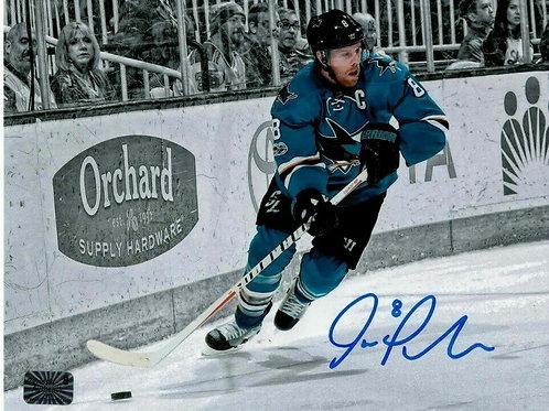 Joe Pavelski San Jose Sharks Signed Autographed Home Skate Spotlight 11x14