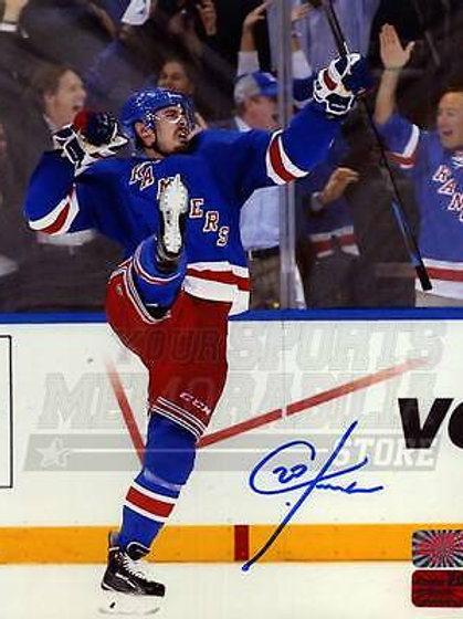 Chris Kreider New York Rangers Signed Autographe?d Home Celebration 8x10