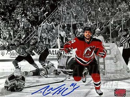 Adam Henrique New Jersey Devils Signed Autographed Spotlight Celebration 8x10 B