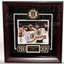 Brad Marchand Patrice Bergeron Boston Bruins Dual Signed Stanley Cup Framed 8x10