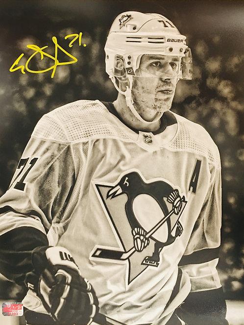 Evgeni Malkin Pittsburgh Penguins Signed Autographed B/W Close Up 11x14