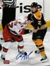 Chris Kelly Boston Bruins Signed 8x10 Fight vs Carolina