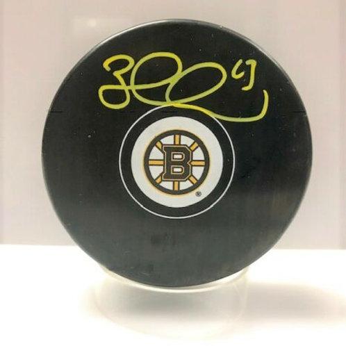 Brad Marchand Boston Bruins Signed Logo Puck.