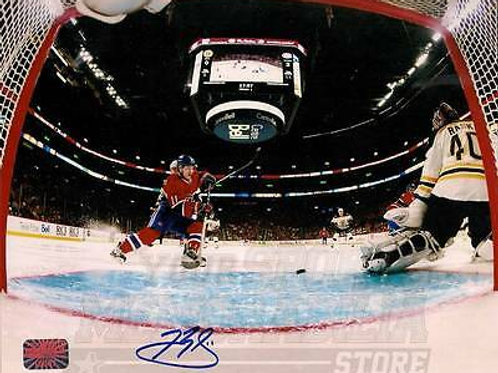 Brendan Gallagher Montreal Canadiens Signed Autographed Netcam vs Bruins 16x20