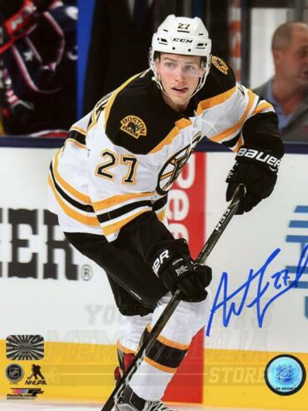 Austin Czarnik Boston Bruins Signed Autographed Away Action 8x10 V PF