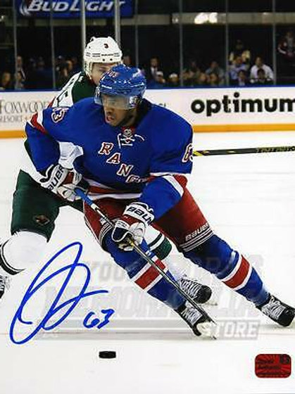 Anthony Duclair New York Rangers Signed Autographed Home Action 8x10