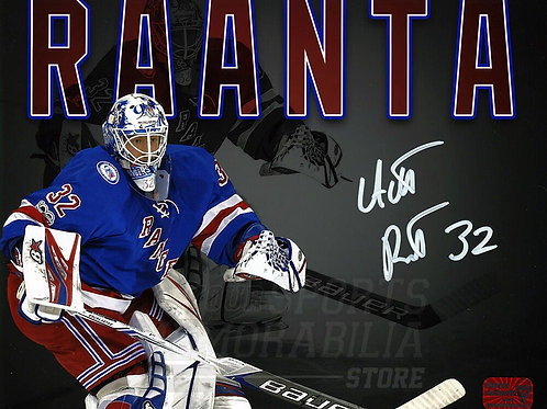 Antti Raanta New York Rangers Signed Autographed Home Montage Spotlight 8x10