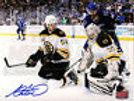 Adam McQuaid Boston Bruins Signed Stanley Cup Defense Action 8x10 Tim Thomas - B