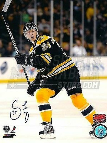 Carl Soderberg Boston Bruins Signed Autographed Home Game Action 8x10