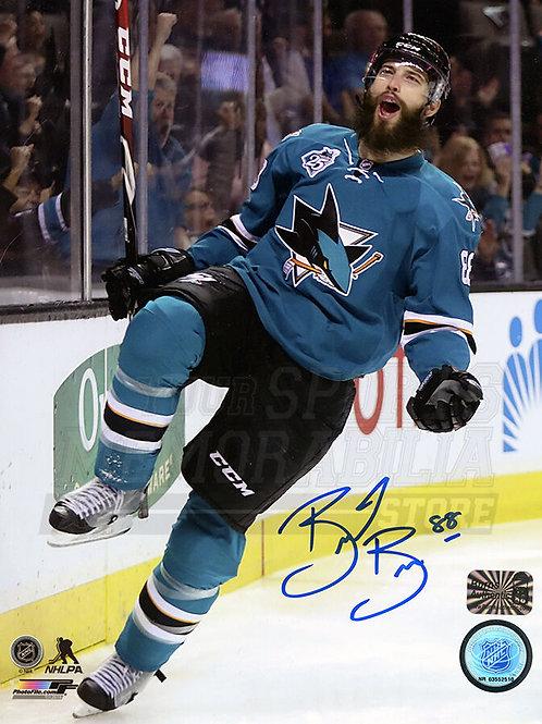 Brent Burns San Jose Sharks Signed Autographed Goal Celebration 8x10