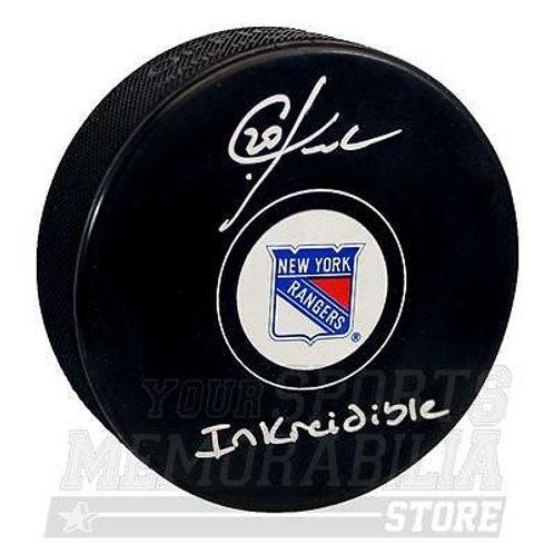 Chris Kreider New York Rangers Signed Autographed Inkreidible Inscribed Puck