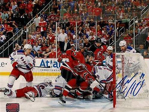 Adam Henrique New Jersey Devils Signed Autographed Goal Action vs Rangers 8x10