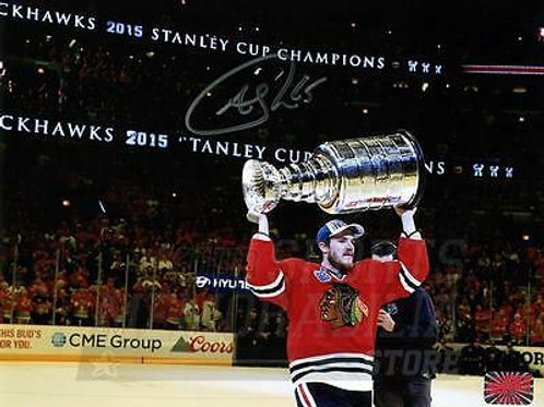 Andrew Shaw Chicago Blackhawks Signed Autographed Raising Stanley Cup 8x10