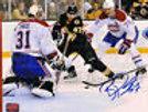 Benoit Pouliot Boston Bruins Signed vs Carey Price Montreal Canadians 8x10