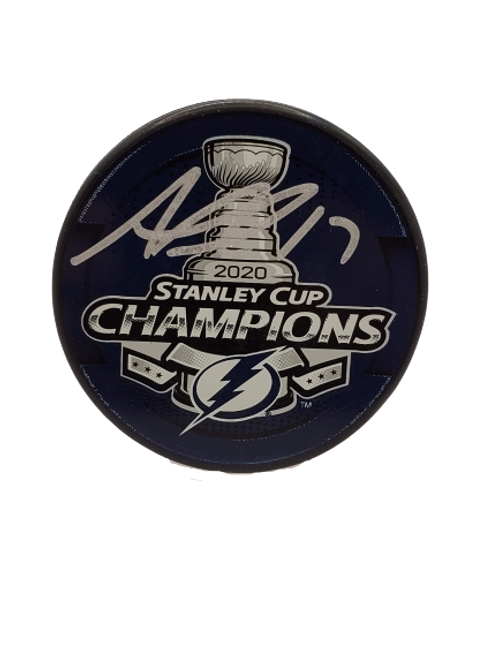 Alex Killorn Tampa Bay Lightning Signed Autographed Stanley Cup Champs 2020 puck