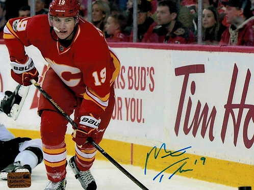 Matt Tkachuk Calgary Flames Signed Autographed Throwback Home Action H 8x10