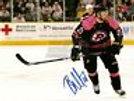 Brian McGrattan Providence Bruins pink signed 8x10 Nashville Predators