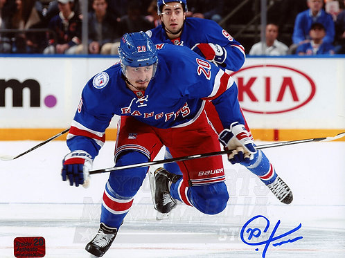 Chris Kreider New York Rangers Signed Autographed Skating Home Action 8x10 NPF