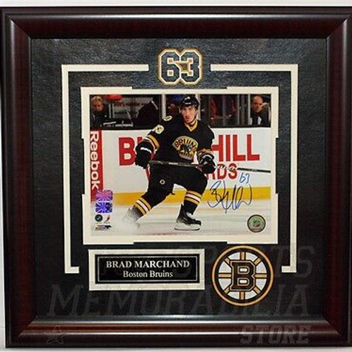 Brad Marchand Boston Bruins Signed Home Action Framed 8x10