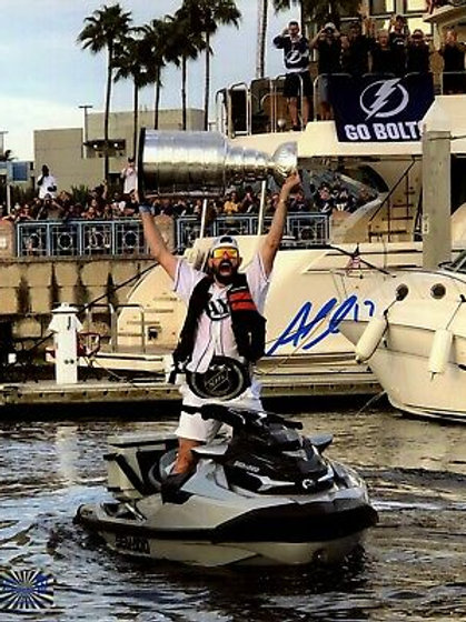 Alex Killorn Tampa Bay Lightning Signed Autographed Stanley Cup Sea-Doo 8x10