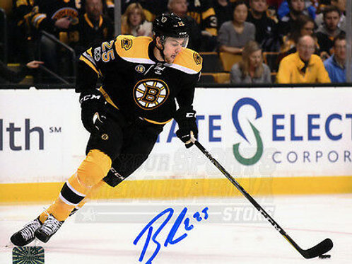 Brandon Carlo Boston Bruins Signed Autographed Home Action 16x20 H
