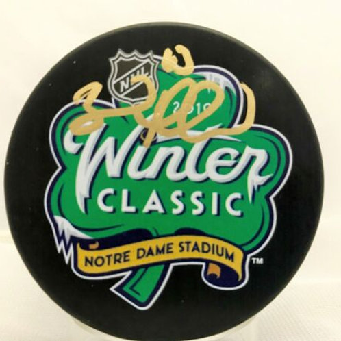 Brad Marchand Boston Bruins Signed 2019 Winter Classic Puck Notre Dame