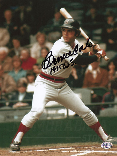 Bernie Carbo Boston Red Sox Signed Autographed 1975 World Series 8x10