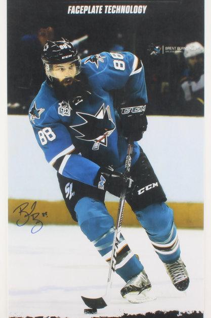 Brent Burns San Jose Sharks Signed Autographed Promo Poster