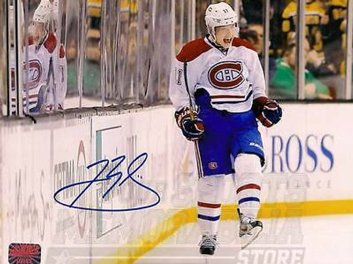 Brendan Gallagher Montreal Canadiens Signed Autographed Celebration 8x10
