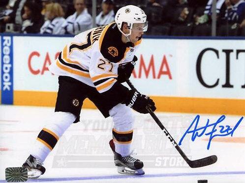 Austin Czarnik Boston Bruins Signed Autographed Away Action 8x10 H