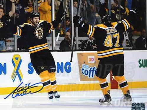 Adam Mcquaid Boston Bruins Signed Autographed Celebration with Torey Krug 8x10