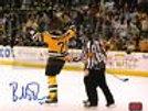 Bobby Robins Boston Providence Bruins Signed Autographed Fight Celebration 8x10