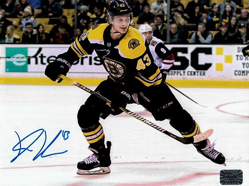 Danton Heinen Boston Bruins Signed Autographed Home Skate 8x10