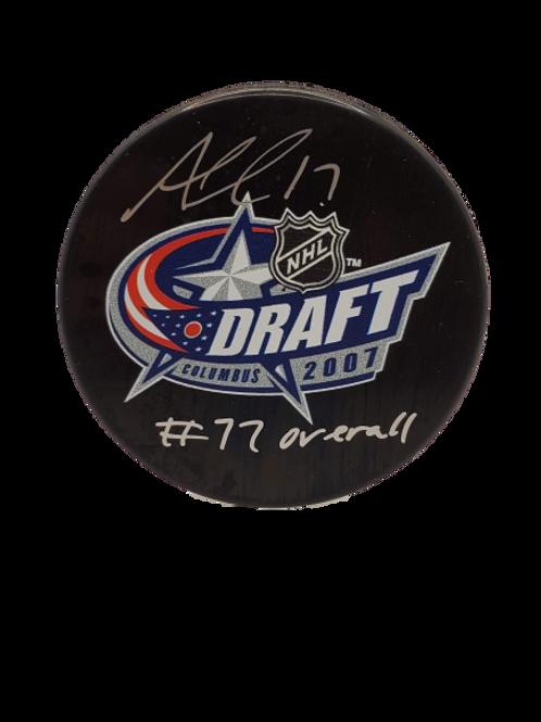 "Alex Killorn Tampa Bay Lightning signed NHL Draft 07 puck ""#77 overall"""