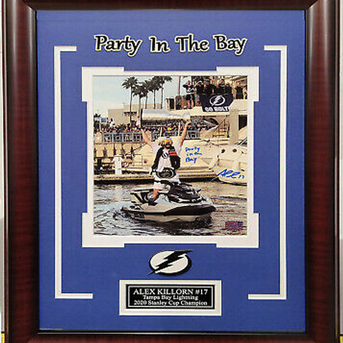 Alex Killorn Tampa Bay Lightning signed 8x10 FRAMED Party in the Bay photo