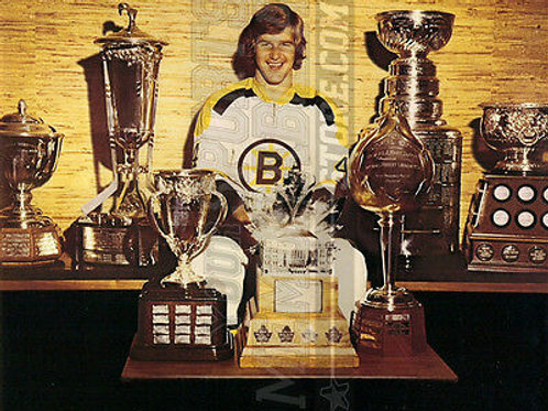 Bobby Orr Boston Bruins trophies & Stanley Cup 8x10 11x14 16x20 photo 1396