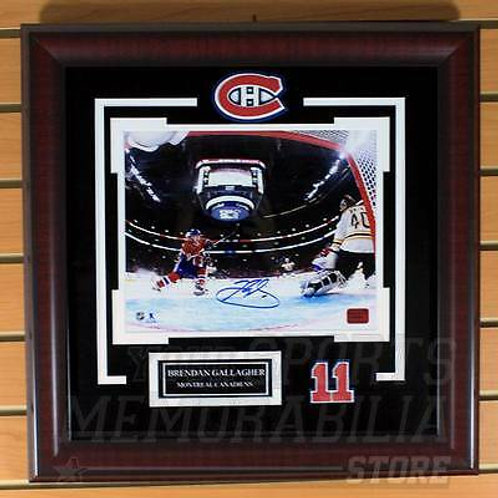 Brendan Gallagher Montreal Canadiens Signed Autographe?d Net Cam 8x10 Framed