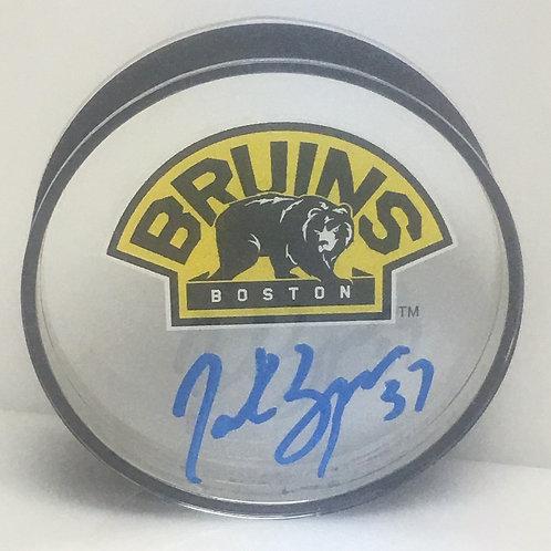 Patrice Bergeron Boston Bruins Signed Autographed 3rd Logo Acrylic Puck B