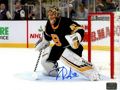 Tuukka Rask Boston Bruins Signed Autographed 2019-20 Alternate Jersey 8x10 A