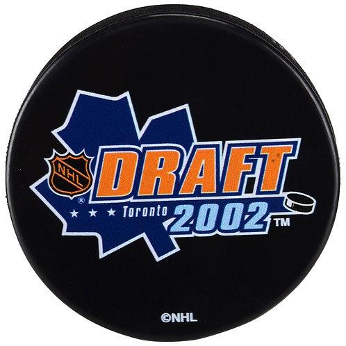 2002 NHL Draft Unsigned Hockey Puck