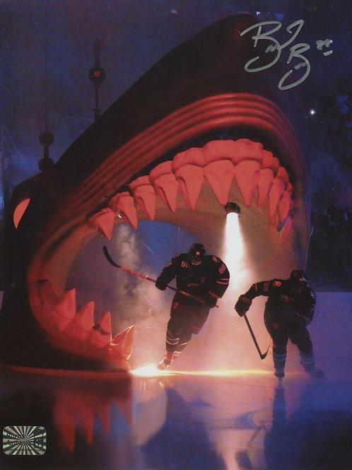 Brent Burns San Jose Sharks Signed Autographed Game Introduction 8x10