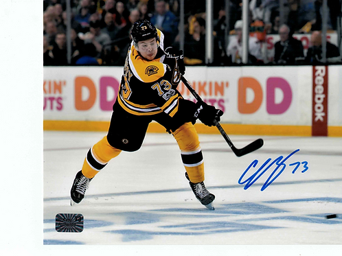 Charlie McAvoy Boston Bruins Signed autographed slap shot  8x10