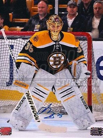 Anton Khudobin Boston Bruins Signed Autographed Goaltending 8x10