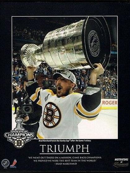 Brad Marchand Boston Bruins 2011 Stanley Cup Champions 8x10 Triumph Plaque