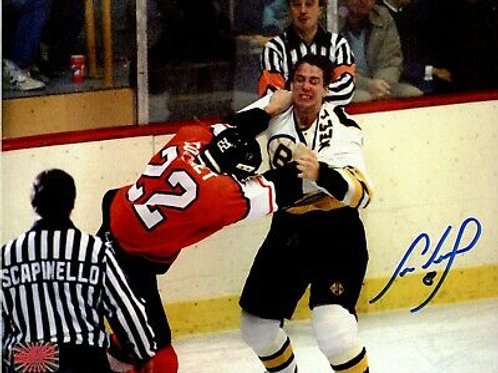 Cam Neely Boston Bruins Signed Autographed Fight Rick Tocchet Flyers 8x10