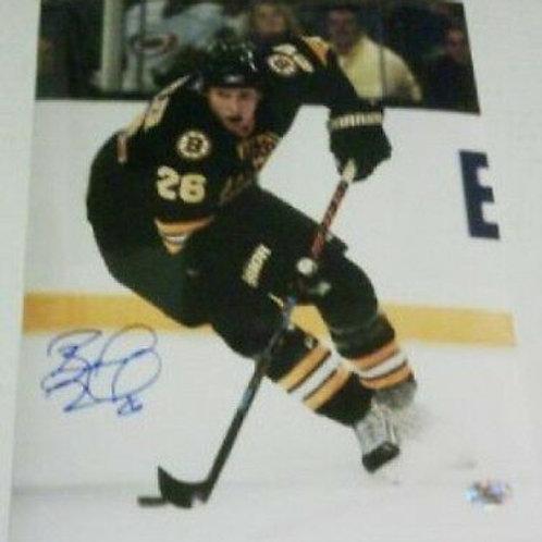 Blake Wheeler Bruins signed 16x20 Winnipeg Jets Atlanta Thrashers D