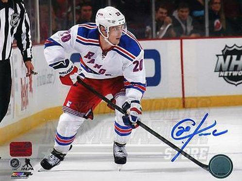 Chris Kreider New York Rangers Signed Autographed Away Action 16x20