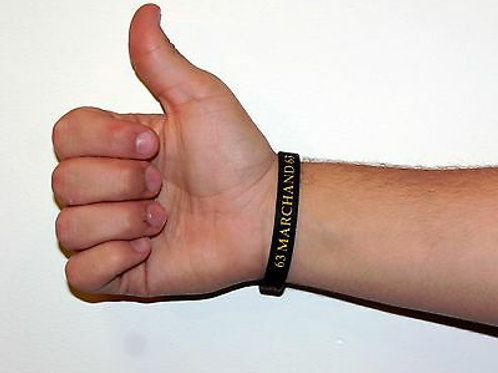 Brad Marchand Boston Bruins Official Black Silicone Bracelet A