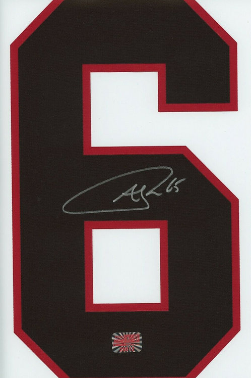 Andrew Shaw Chicago Blackhawks Signed Autographed Black #6 Jersey Number